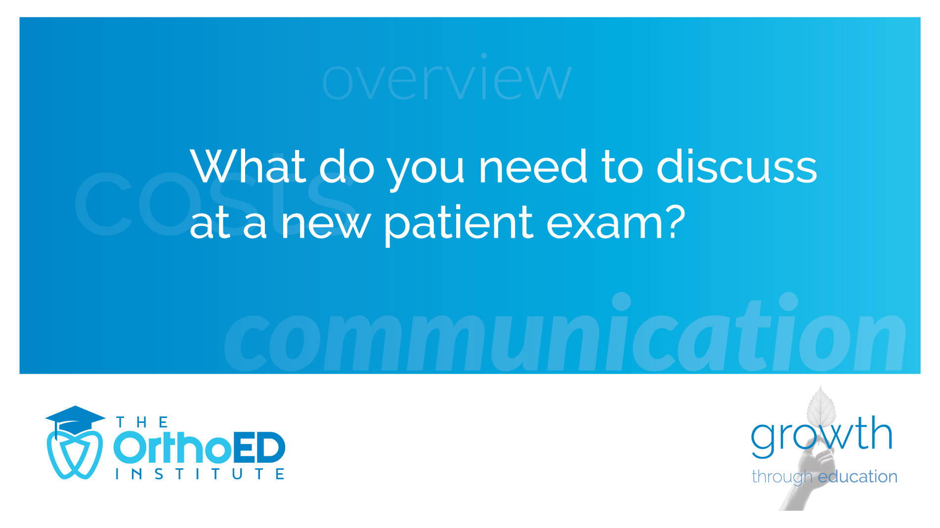 new patient discuss